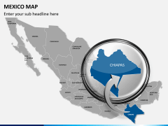Mexico map PPT slide 17