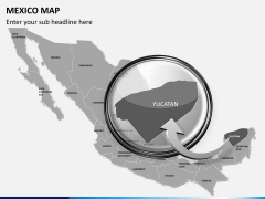Mexico map PPT slide 18