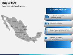 Mexico map PPT slide 20