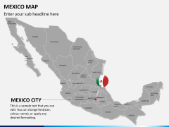 Mexico map PPT slide 22