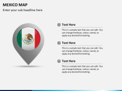 Mexico map PPT slide 25