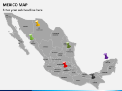Mexico map PPT slide 3