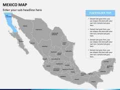 Mexico map PPT slide 7
