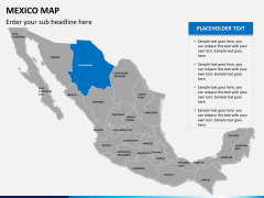Mexico map PPT slide 8