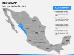 Mexico map PPT slide 9