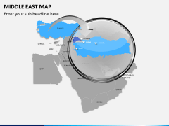 Middle east map PPT slide 10