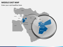 Middle east map PPT slide 11