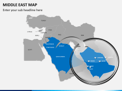 Middle east map PPT slide 12