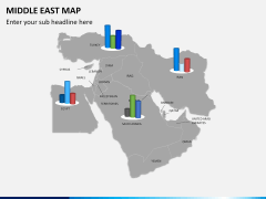 Middle east map PPT slide 13