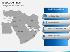 Middle east map PPT slide 14