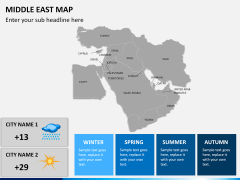 Middle east map PPT slide 16
