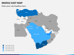 Middle east map PPT slide 2