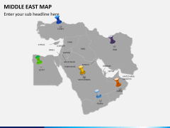 Middle east map PPT slide 4