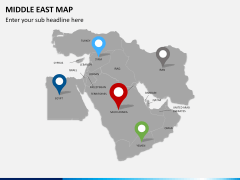 Middle east map PPT slide 5