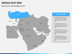 Middle east map PPT slide 8