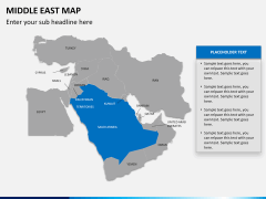 Middle east map PPT slide 9