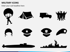 Military icons PPT slide 1