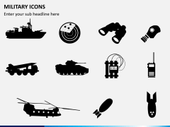 Military icons PPT slide 2