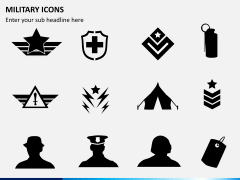 Military icons PPT slide 5
