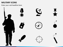 Military icons PPT slide 7