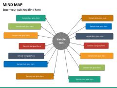 Mind map PPT slide 24
