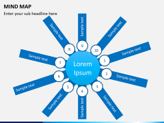 Mind map PPT slide 14