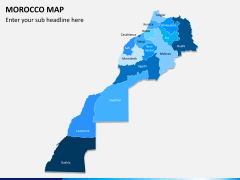Morocco map PPT slide 1