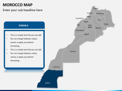 Morocco map PPT slide 10