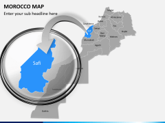 Morocco map PPT slide 11