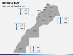 Morocco map PPT slide 14