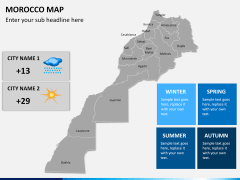 Morocco map PPT slide 16