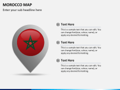 Morocco map PPT slide 17