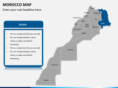 Morocco map PPT slide 7