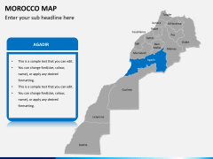 Morocco map PPT slide 8