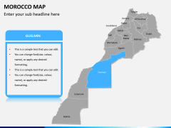 Morocco map PPT slide 9