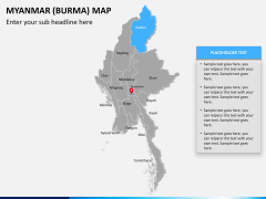 Myanmar (Burma) Map PPT slide 10