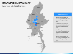 Myanmar (Burma) Map PPT slide 11