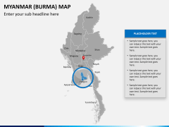 Myanmar (Burma) Map PPT slide 12