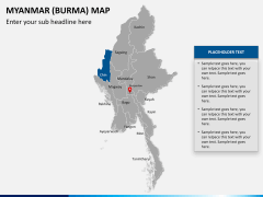 Myanmar (Burma) Map PPT slide 13