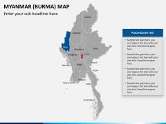 Myanmar (Burma) Map PPT slide 13