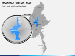 Myanmar (Burma) Map PPT slide 14