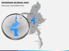 Myanmar (Burma) Map PPT slide 14