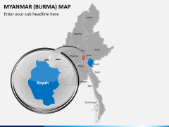 Myanmar (Burma) Map PPT slide 15
