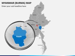 Myanmar (Burma) Map PPT slide 15