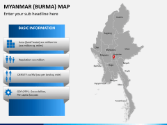 Myanmar (Burma) Map PPT slide 17
