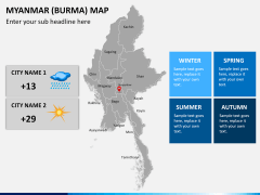 Myanmar (Burma) Map PPT slide 18