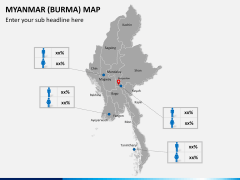 Myanmar (Burma) Map PPT slide 19