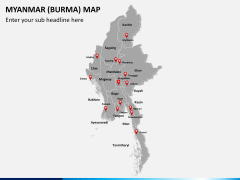 Myanmar (Burma) Map PPT slide 2