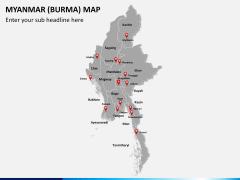 Myanmar (Burma) Map PPT slide 2