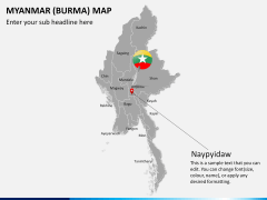 Myanmar (Burma) Map PPT slide 20